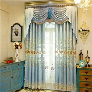 遮光カーテン オーダーカーテン 刺繍 花柄 欧米風 寝室 リビング オシャレ(1枚)