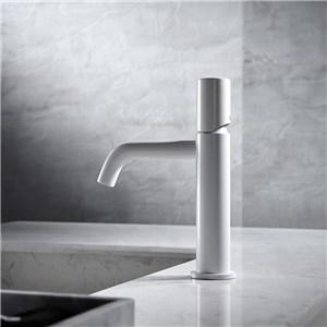 洗面水栓 バス蛇口 冷熱混合栓 立水栓 手洗器蛇口 水栓金具 水道蛇口 白色 H20.7cm