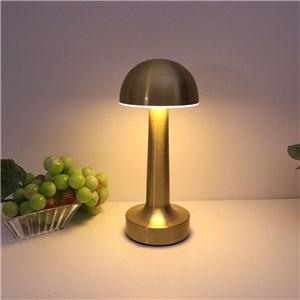 LEDテーブルランプ 卓上照明 タッチセンサー 3段階調光 電球色 3W キノコ型