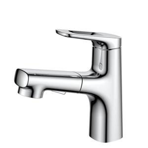 洗面蛇口 スプレー混合栓 洗髪用水栓 ホース引出式 水道蛇口 4色