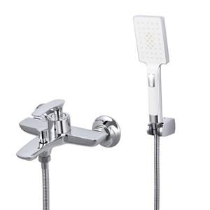 浴室シャワー水栓 バス蛇口付き ハンドシャワー 混合水栓 浴槽蛇口 風呂用 2色