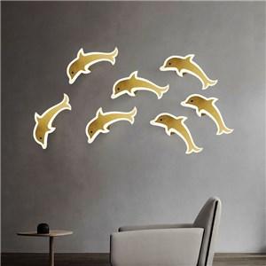 LED壁掛け照明 ブラケット ウォールランプ 玄関照明 寝室照明 イルカ型