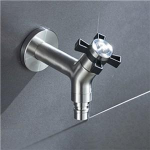洗濯機用水栓 壁付蛇口 単水栓  ガーデンカラン 屋内屋外兼用 ステンレス製 2色 10cm