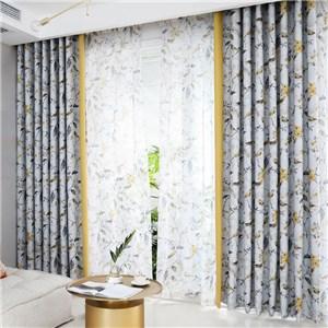 遮光カーテン オーダーカーテン 捺染 植物柄 北欧風 寝室 リビング オシャレ(1枚)
