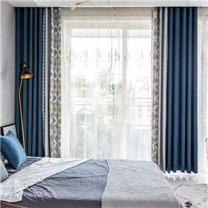 遮光カーテン オーダーカーテン ジャカード  菱形柄 北欧風 寝室 リビング オシャレ(1枚)