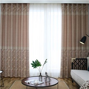 遮光カーテン オーダーカーテン ジャカード 植物柄 北欧風 寝室 リビング オシャレ(1枚)