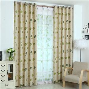 遮光カーテン オーダーカーテン 捺染 植物柄 北欧風 寝室 子供屋 オシャレ(1枚)