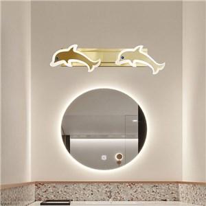 LEDミラーライト 壁掛け照明 化粧室ブラケット ウォールランプ イルカ型