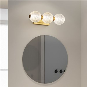 LEDミラーライト 壁掛け照明 ウォールランプ 化粧室ブラケット つなぎ玉型 3/4/5灯