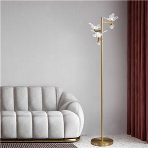 LEDフロアスタンド フロアランプ リビング照明 寝室照明 書斎照明 鳥型 3灯