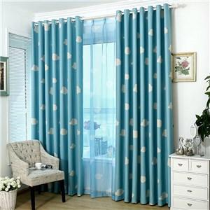 遮光カーテン オーダーカーテン 捺染 雲 北欧風 寝室 リビング オシャレ(1枚)