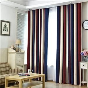 遮光カーテン オーダーカーテン 無地 縦縞 北欧風 寝室 リビング オシャレ(1枚)