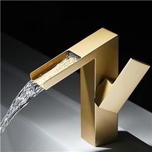洗面水栓 バス蛇口 冷熱混合水栓 水道蛇口 手洗器水栓 金色 H190mm