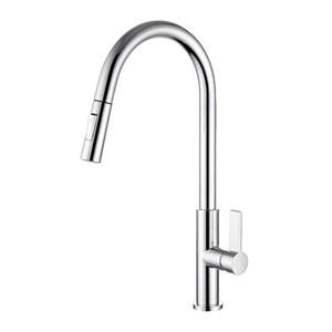 キッチン水栓 台所蛇口 引出し式水栓 冷熱混合栓 水栓金具 整流&シャワー吐水式 3色