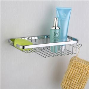シャンプースタンド シャワーラック 浴室収納 フック付き クロム