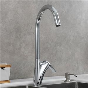 キッチン水栓 台所蛇口 冷熱混合栓 水道蛇口 3色 H406mm