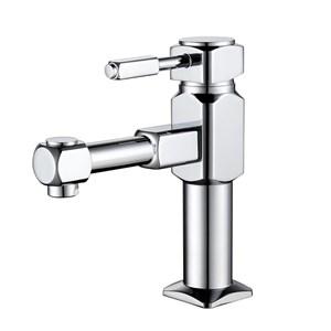 洗面水栓 バス蛇口 冷熱混合栓 水道蛇口 クロム H187mm