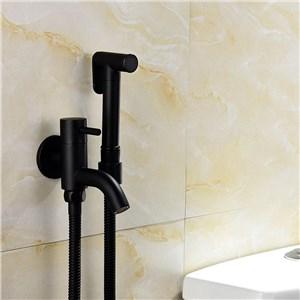 ビデ蛇口 洗浄器用水栓 シャワー蛇口 単水栓 黒色