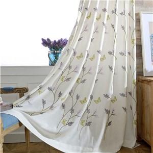 遮光カーテン オーダーカーテン 蝶柄 刺繍 北欧風 寝室 リビング オシャレ(1枚)