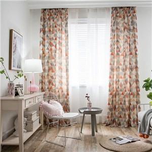 遮光カーテン オーダーカーテン 三角形 捺染 北欧風 寝室 リビング オシャレ(1枚)