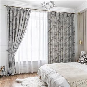 遮光カーテン オーダーカーテン 大理石 捺染 北欧風 寝室 リビング オシャレ(1枚)