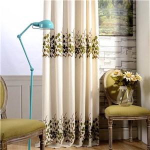 遮光カーテン オーダーカーテン 花柄 刺繍 北欧風 寝室 リビング オシャレ(1枚)