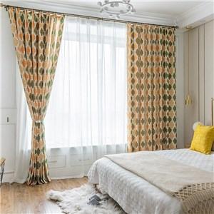 遮光カーテン オーダーカーテン ハニカム 捺染 北欧風 寝室 リビング オシャレ(1枚)