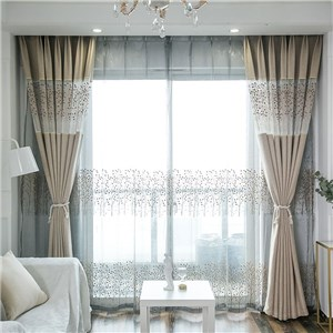 遮光カーテン オーダーカーテン 植物柄 ジャカード 北欧風 寝室 リビング オシャレ(1枚)