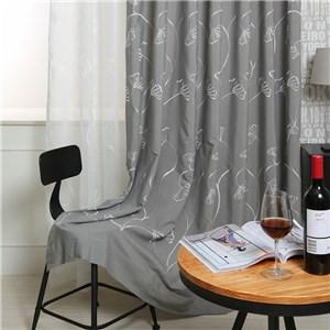 遮光カーテン オーダーカーテン 葉柄 刺繍 北欧風 寝室 リビング オシャレ(1枚)