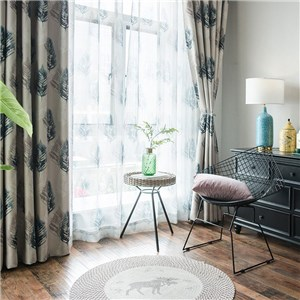 遮光カーテン オーダーカーテン 羽 捺染 北欧風 寝室 リビング オシャレ(1枚)