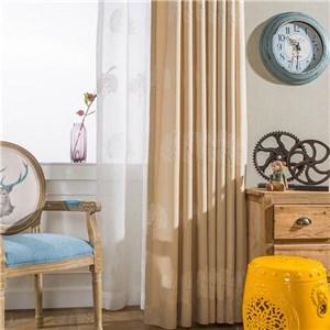 遮光カーテン オーダーカーテン 木柄 刺繍 北欧風 寝室 リビング オシャレ(1枚)