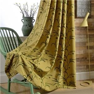 遮光カーテン オーダーカーテン コムギ 刺繍 北欧風 寝室 リビング オシャレ(1枚)
