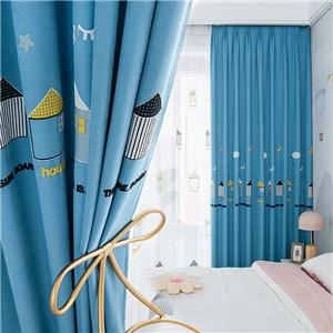 遮光カーテン オーダーカーテン 部屋 刺繍 北欧風 寝室 子供屋 オシャレ(1枚)