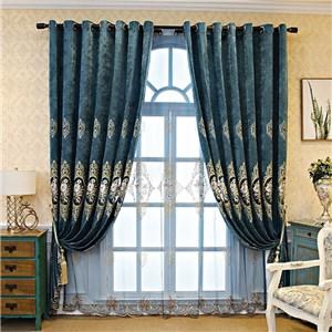 遮光カーテン オーダーカーテン 花柄 刺繍 欧米風 寝室 リビング オシャレ(1枚)