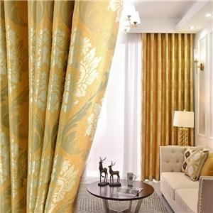 遮光カーテン オーダーカーテン 花柄 ジャカード 欧米風 寝室 リビング オシャレ(1枚)