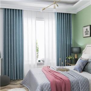 遮光カーテン オーダーカーテン 星柄 ジャカード 北欧風 寝室 リビング オシャレ(1枚)