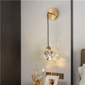 LED壁掛け照明 ウォールランプ ブラケット 寝室照明 クリスタル 3階段調色