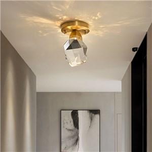 LEDシーリングライト 寝室照明 玄関照明 天井照明 クリスタル 3階段調色