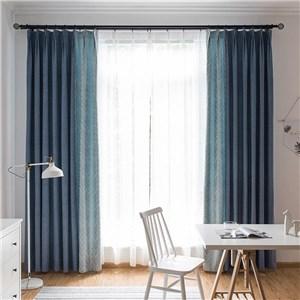 遮光カーテン オーダーカーテン 波柄 ジャカード 北欧風 寝室 リビング オシャレ(1枚)