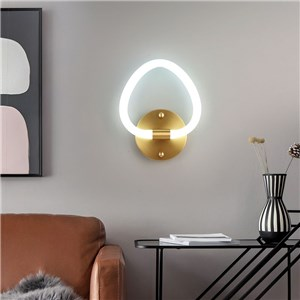 LED壁掛け照明 ウォールランプ ブラケットライト 寝室照明 玄関照明 桃型
