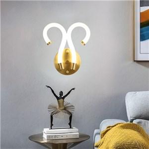 LED壁掛け照明 ウォールランプ ブラケットライト 寝室照明 玄関照明 羊角型