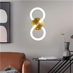 LED壁掛け照明 ウォールランプ ブラケットライト 寝室照明 玄関照明 8字型