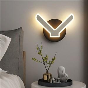 LED壁掛け照明 ウォールランプ ブラケットライト 間接照明 玄関照明 V型 2色