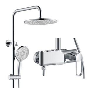 浴室シャワー水栓 シャワーシステム バス水栓 ヘッドシャワー+ハンドシャワー+蛇口 4色