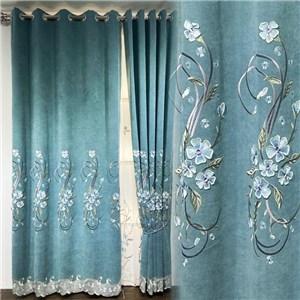 遮光カーテン オーダーカーテン 花柄 北欧風 寝室 リビング オシャレ(1枚)