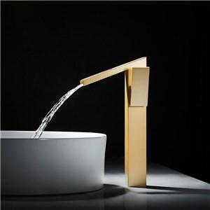 洗面水栓 バス蛇口 冷熱混合水栓 水道蛇口 手洗器水栓 金色 H315mm
