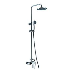浴室シャワー水栓 レインシャワーシステム シャワーバー バス水栓 ヘッドシャワー+ハンドシャワー+蛇口 混合栓 クロム