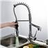 3色LEDキッチン蛇口 台所蛇口 冷熱混合栓 水道蛇口 クロム&ヘアライン