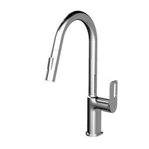キッチン水栓 台所蛇口 引出し式水栓 冷熱混合栓 水栓金具 整流&シャワー吐水式 4色