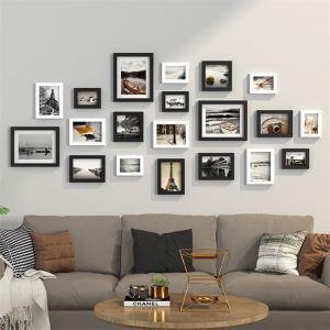壁掛けフォトフレーム 写真立てセット 額縁 フォトデコレーション 木製 20個セット